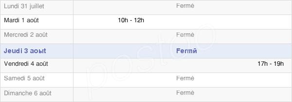 horaires d'ouverture de la Mairie De Saint-Étienne-Sur-Suippe