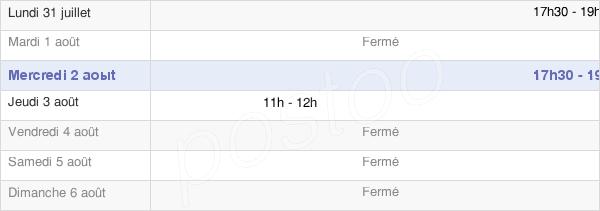horaires d'ouverture de la Mairie De Villers-Franqueux