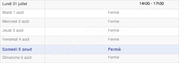 horaires d'ouverture de la Mairie De Suizy-Le-Franc