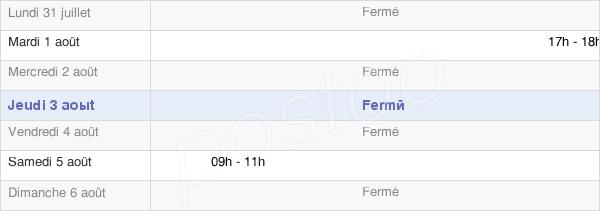 horaires d'ouverture de la Mairie De Cherville