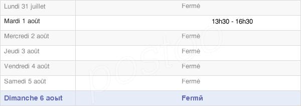 horaires d'ouverture de la Mairie De Bergères Sous Montmirail