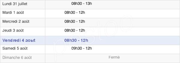 horaires d'ouverture de la Mairie De Frignicourt