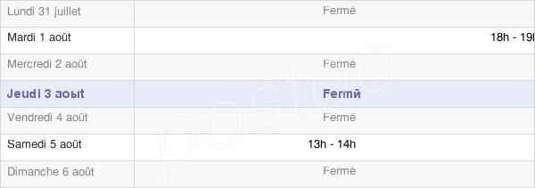horaires d'ouverture de la Mairie De Cloyes-Sur-Marne