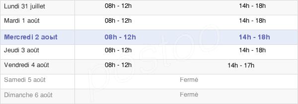 horaires d'ouverture de la Mairie D'Avize