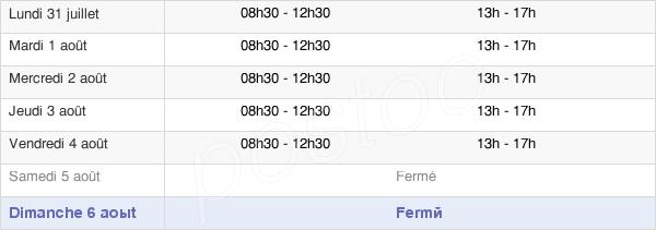 horaires d'ouverture de la Mairie De Vitry-Le-François