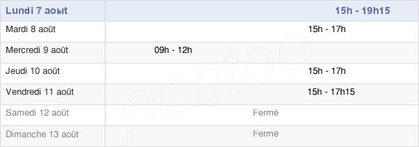 horaires d'ouverture de la Mairie De Val-De-Vesle