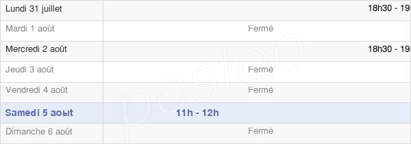 horaires d'ouverture de la Mairie De Matougues