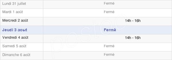 horaires d'ouverture de la Mairie De Souain-Perthes-Lès-Hurlus