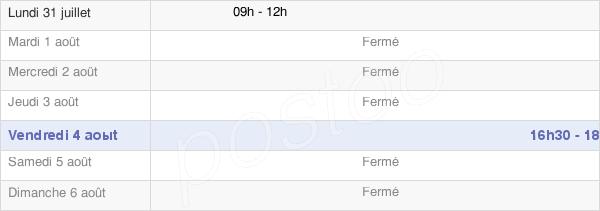 horaires d'ouverture de la Mairie De Francheville
