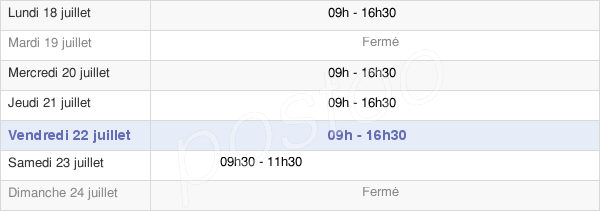horaires d'ouverture de la Mairie De Mutigny
