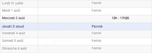 horaires d'ouverture de la Mairie De Nesle-Le-Repons