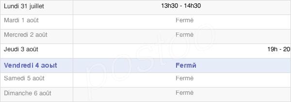 horaires d'ouverture de la Mairie De Val-De-Vière