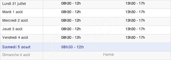 horaires d'ouverture de la Mairie De Cormontreuil