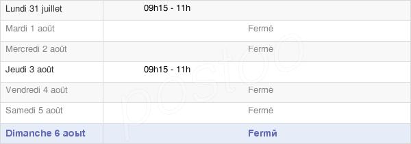 horaires d'ouverture de la Mairie De La Caure