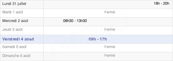 horaires d'ouverture de la Mairie De Chenay