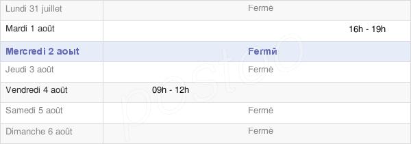 horaires d'ouverture de la Mairie De Ambrières