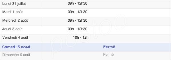 horaires d'ouverture de la Mairie D'Oger