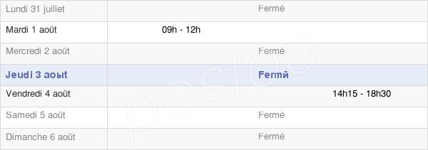 horaires d'ouverture de la Mairie De Courmas