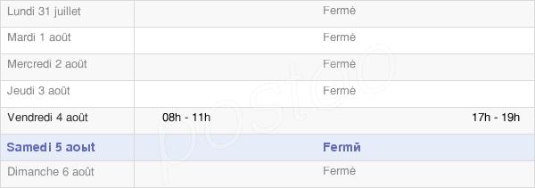 horaires d'ouverture de la Mairie De Germinon