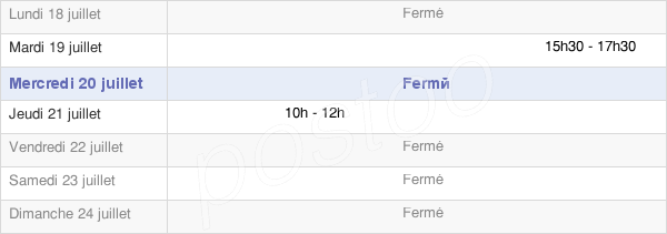 horaires d'ouverture de la Mairie De Saint-Hilaire-Le-Petit