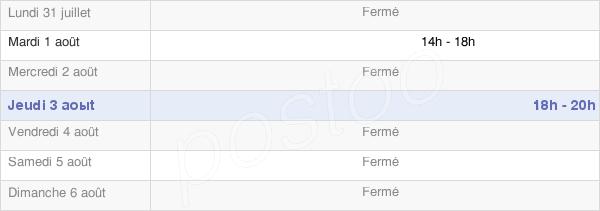 horaires d'ouverture de la Mairie De Reims-La-Brûlée