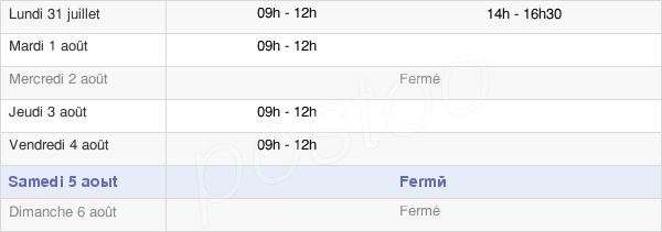 horaires d'ouverture de la Mairie De Frespech