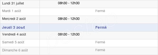 horaires d'ouverture de la Mairie D'Apchon