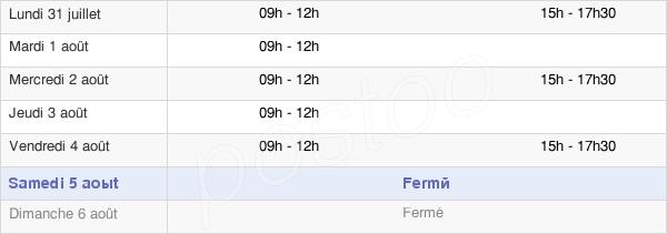 horaires d'ouverture de la Mairie De Roquefort