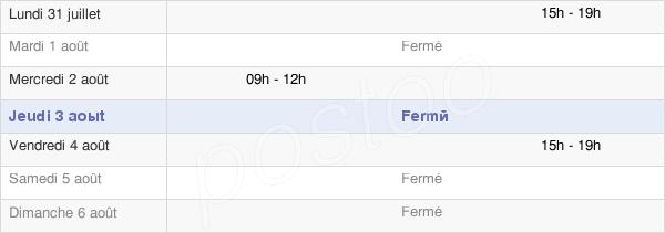 horaires d'ouverture de la Mairie D'Agnac