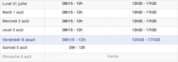 horaires d'ouverture de la Mairie De Marmande