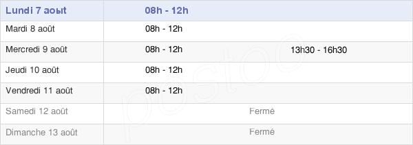 horaires d'ouverture de la Mairie De Brax