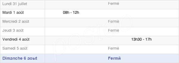 horaires d'ouverture de la Mairie De Saint-Vincent-De-Salers