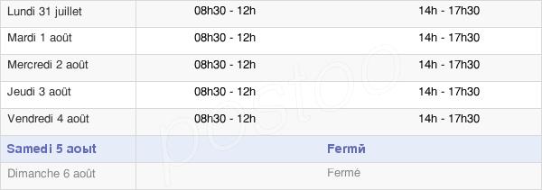 horaires d'ouverture de la Mairie De Pont-Du-Casse