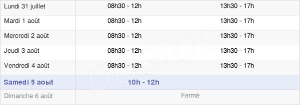 horaires d'ouverture de la Mairie De Lafox