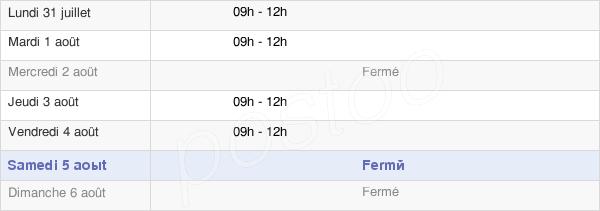 horaires d'ouverture de la Mairie De Lugarde