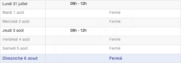 horaires d'ouverture de la Mairie De Jabrun