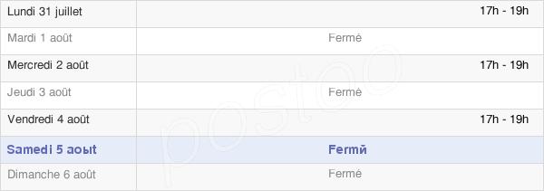 horaires d'ouverture de la Mairie De Saint-Maur-Sur-Le-Loir