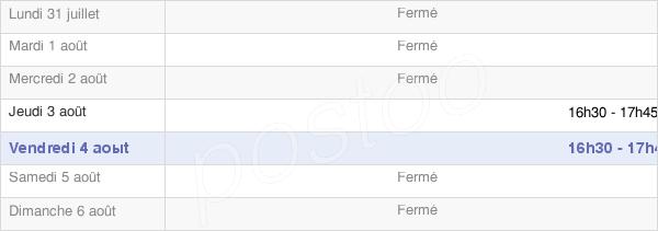 horaires d'ouverture de la Mairie De Saint-Maurice-Saint-Germain