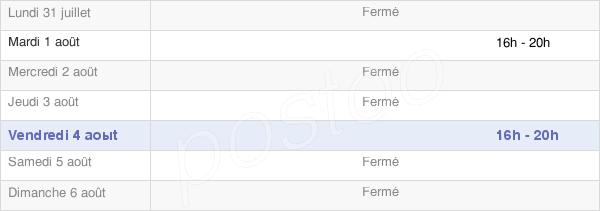 horaires d'ouverture de la Mairie De Néron