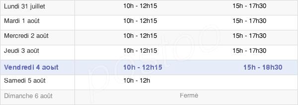 horaires d'ouverture de la Mairie De Courville-Sur-Eure