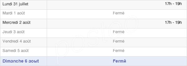 horaires d'ouverture de la Mairie D'Orrouer