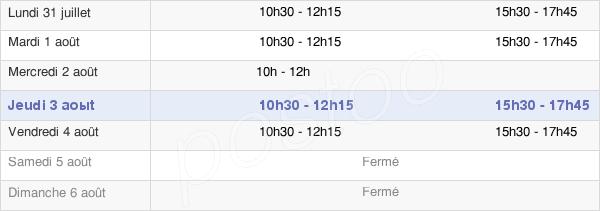 horaires d'ouverture de la Mairie De Barjouville