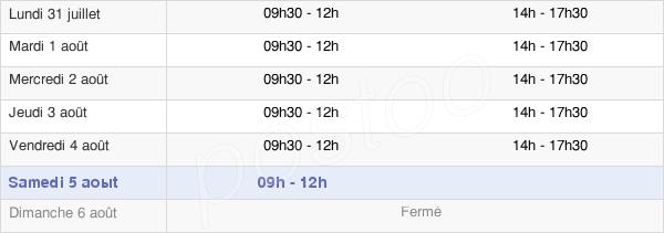 horaires d'ouverture de la Mairie D'Ydes