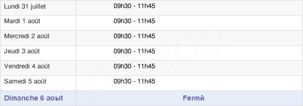 horaires d'ouverture de la Mairie De Jouy