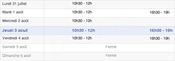 horaires d'ouverture de la Mairie De Chaudon