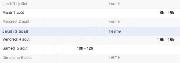 horaires d'ouverture de la Mairie D'Ouerre