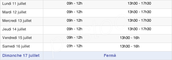 horaires d'ouverture de la Mairie De Saint-Lubin-Des-Joncherets