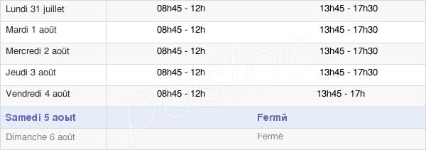 horaires d'ouverture de la Mairie De Mainvilliers
