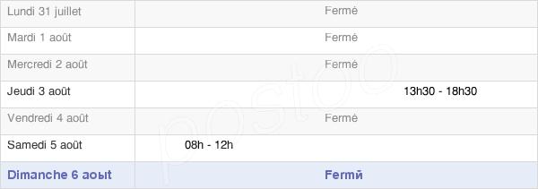 horaires d'ouverture de la Mairie De Laveissenet