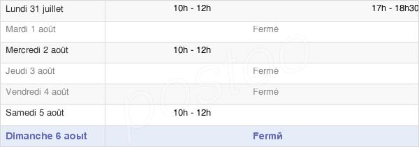horaires d'ouverture de la Mairie De Senantes